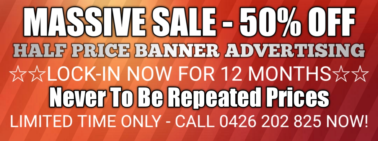 50% off banner advertising offer