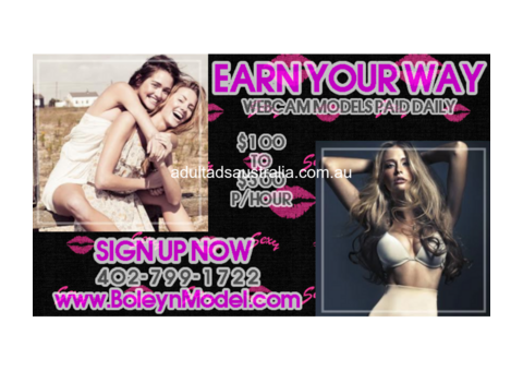 Webcam Models Get Paid DAILY!
